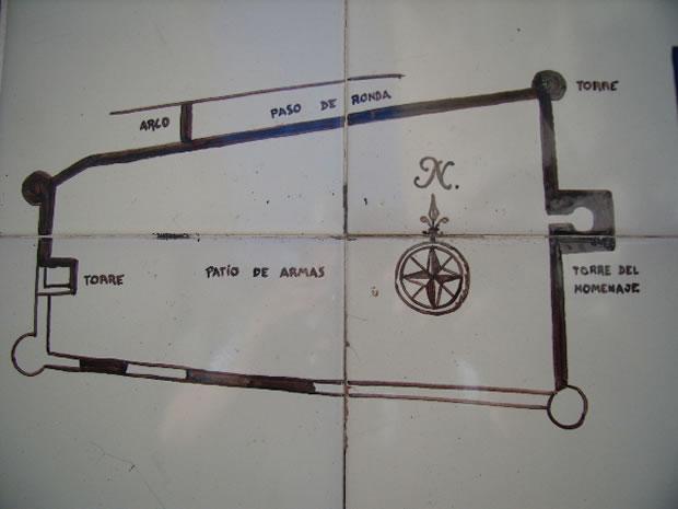 Plano del Castillo de Doña Mencía