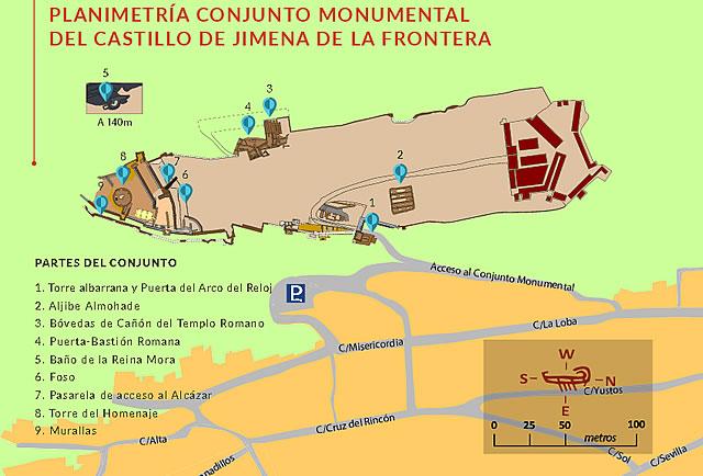 Castillo de Jimena de la Frontera - Conjunto Monumental del Castillo de Jimena de la Frontera - Planimetría