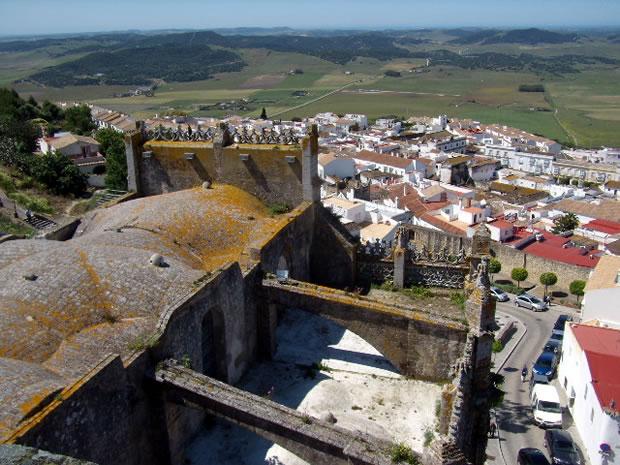 Medina Sidonia, Panorámica de Medina Sidonia desde la torre de la Iglesia de Santa María la Mayor Coronada