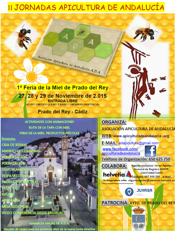 Apicultura de Andalucía - II Jornadas Apicultura de Andalucía - Feria de la Miel de Prado del Rey