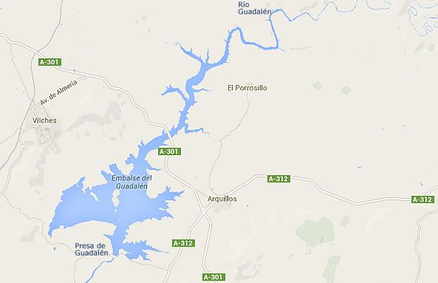 Presa de Guadalén - Embalse del Guadalén - Pantano del Guadalén - Vilches - Arquillos - Jaén