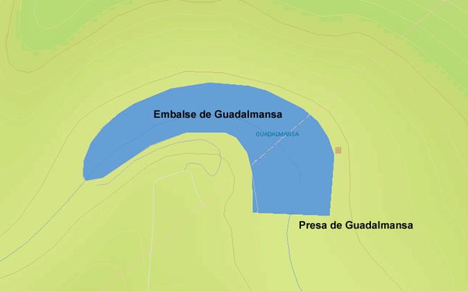 Presa de Guadalmansa - Embalse de Guadalmansa - Pantano de Guadalmansa