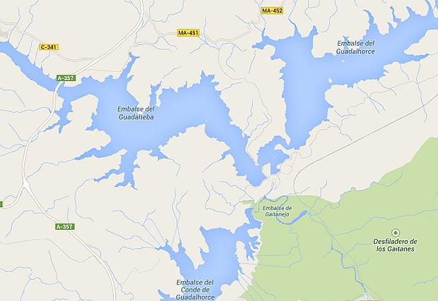 Presa de Guadalhorce y Guadalteba - Embalse de Guadalhorce - Embalse de Guadalteba - Embalse Conde de Guadalhorce - Embalse de Gaitanejo - Los Tres Pantanos