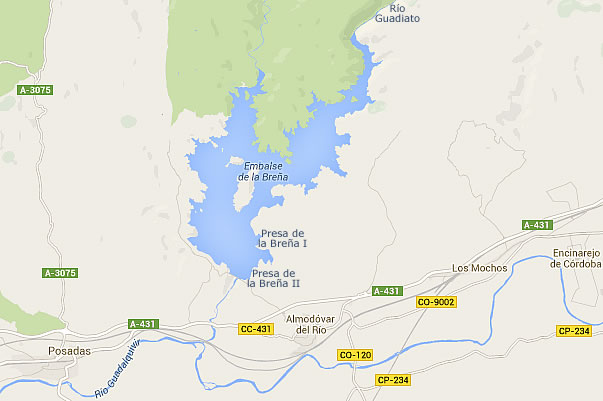 Presa de la Breña - Embalse de la Breña - Pantano de la Breña I - Almodóvar del Río