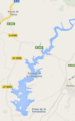 Presa de la Fernandina - Embalse de la Fernandina - Pantano de la Fernandina - Vilches - Jaén