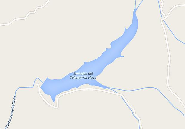 Presa de la Hoya Teliaran - Embalse de la Hoya Teliaran - Pantano de la Hoya Teliaran