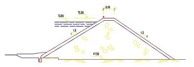 Presa del Corumbel Bajo - Embalse del Corumbel Bajo - Pantano del Corumbel Bajo