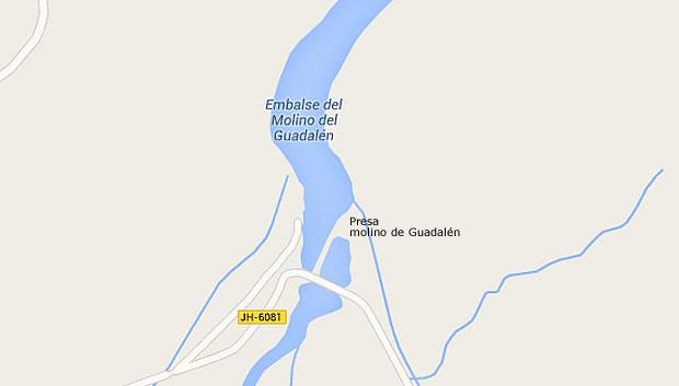 Presa Molino de Guadalén - Embalse del Molino del Guadalén - Pantano Molino de Guadalén - Vilches - Jaén