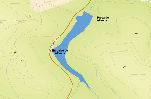 Presa de Aliseda - Embalse de Aliseda - Pantano de Aliseda