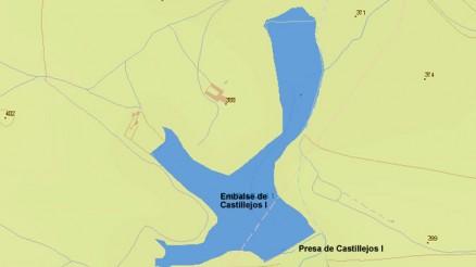 Presa del Embalse de Castillejos I - Castillejos I Dam and Reservoir