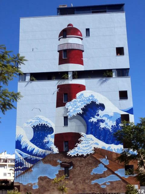 Mural Artístico 6 Segundos de Oscuridad - Ruta de los Murales Estepona