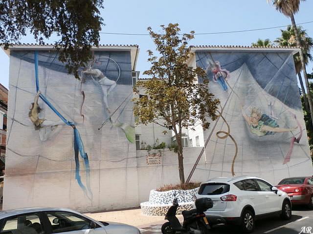 """Mural Artístico en Bda. del Cid """"Pasen y Vean"""""""