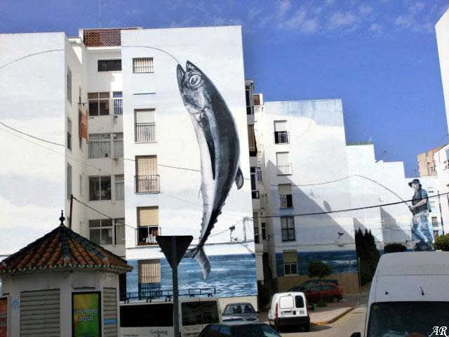 """Mural Artístico """"Día de Pesca"""" - Estepona"""