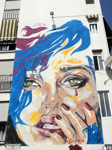 """Mural Artístico en Edf. Los Claveles """"4M"""" Artista: Miguel González"""