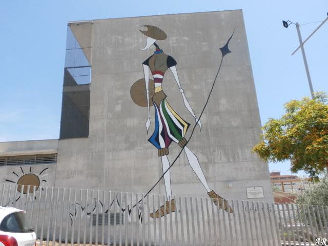 """Mural Artístico """"Quijote en el Siglo XXI"""" Estepona"""
