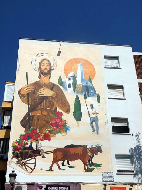 Mural Artístico homenaje a San Isidro Labrador en la Barriada de Fuerzas Armadas Estepona