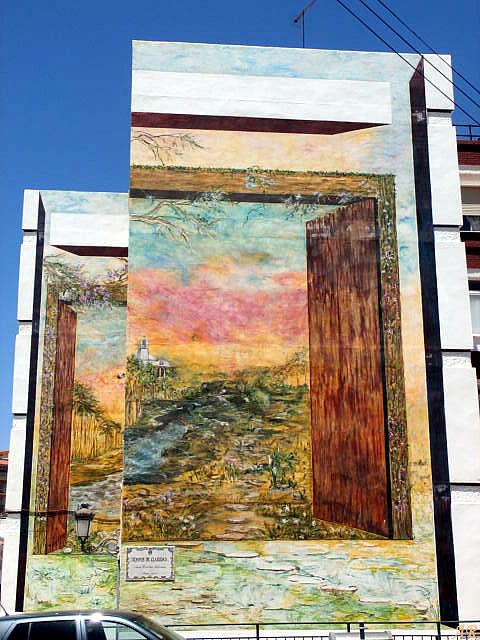 """Mural Artístico en Bda. San Isidro Labrador """"Tiempos de Claridad"""" Artista: Ana Cecilia Salinas"""