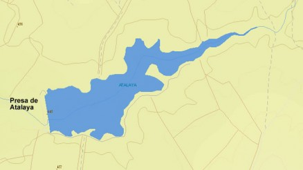 Presa del Embalse de Atalaya - Embalse de Bombaron - Dam and Reservoir