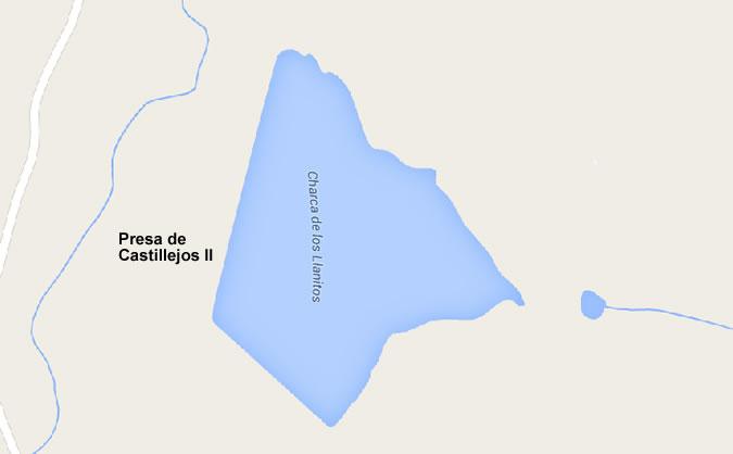 Presa del Embalse de Castillejos II - Embalse de Castillejos II - Pantano de Castillejos II - Charca de los Llanitos - Arroyomolinos de Montánchez - Cáceres - Cuenca del Guadiana - Extremadura