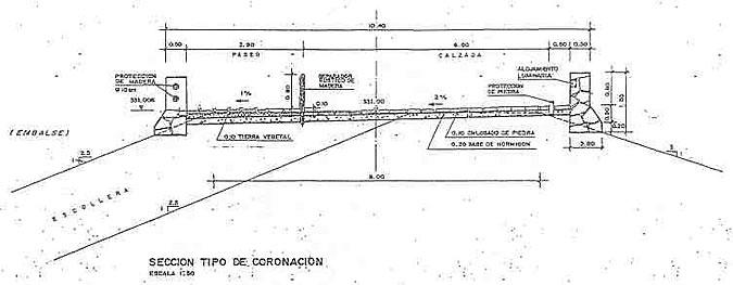 Sección Tipo de Coronación