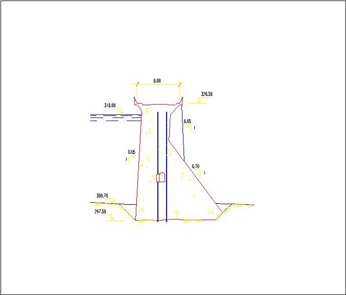 Zújar - Dique del Collado-perfil