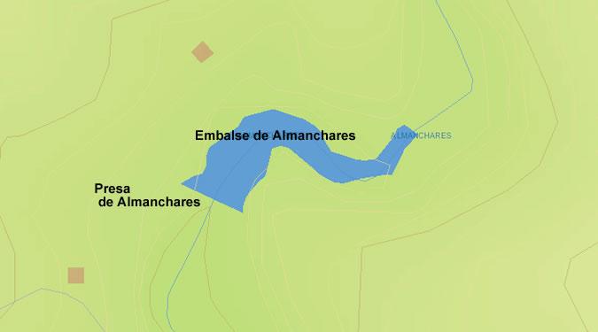 Presa del Embalse de Almanchares - Presa de Almanchares - Canillas de Aceituno - Dam and Reservoir