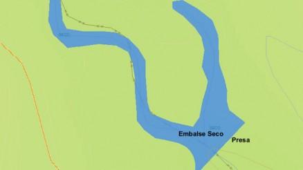 Presa del Embalse Seco - La Viñuela - Dam