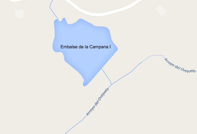 Presa de la Campana I - Villanueva de Córdoba - Embalse de la Campana I