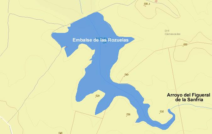 Presa de las Rozuelas - Torrecampo - Embalse de las Rozuelas - Torrecampo - Pantano la Rozuela