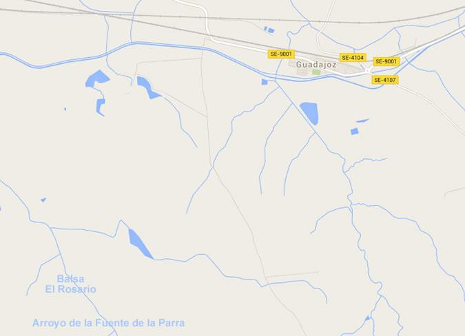 Presa El Rosario - Balsa El Rosario - Carmona - Embalse El Rosario - Guadajoz
