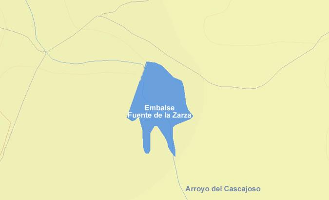 Presa Fuente de la Zarza - Hinojosa del Duque - Embalse Fuente de la Zarza - Pantano