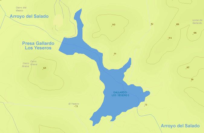 Presa Gallardo - Los Yeseros - Embalse Gallardo Los Yeseros - Embalse Arroyo del Salado - Puerto Real - Pantano Gallardo Los Yeseros