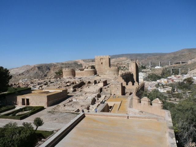 Torre Norte en el segundo recinto de la Alcazaba de Almería