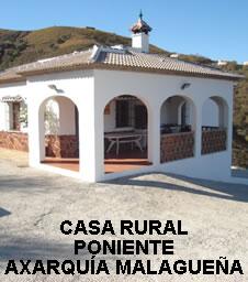 Casa Rural Poniente - alquiler de casa rural completa en la Axarquía Malagueña - Alojamiento Rural en Almáchar