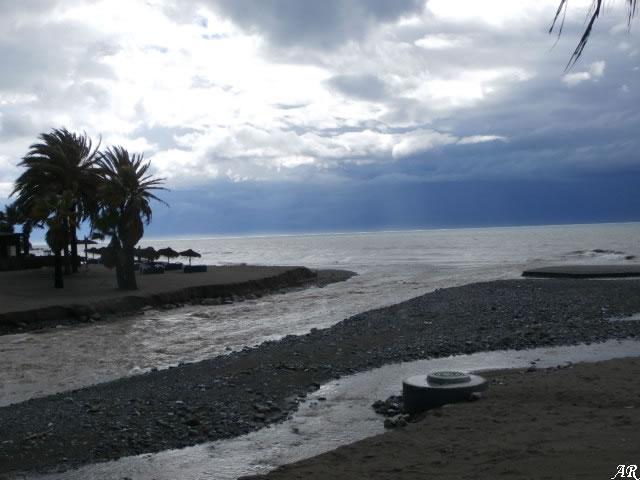 Lluvias en Estepona