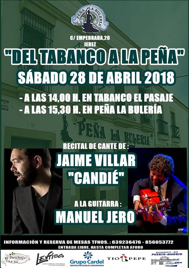 """Jerez de la Frontera - Peña La Bulería - Recital de Cante de Jaime Villar """"Candié"""" y Manuel Jero a la guitarra"""