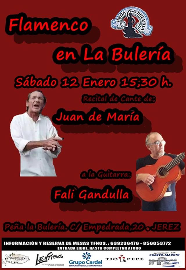 Flamenco en La Bulería - Juan de María y Fali Gandulla