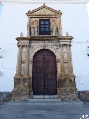 Portada de la Iglesia Parroquial de Nuestra Señora de la Anunciación de Alcudia - Valle del Zalabí