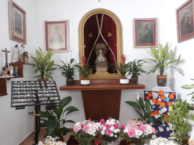 Interior de la Capilla de la Virgen de las Angustias - Algarrobo