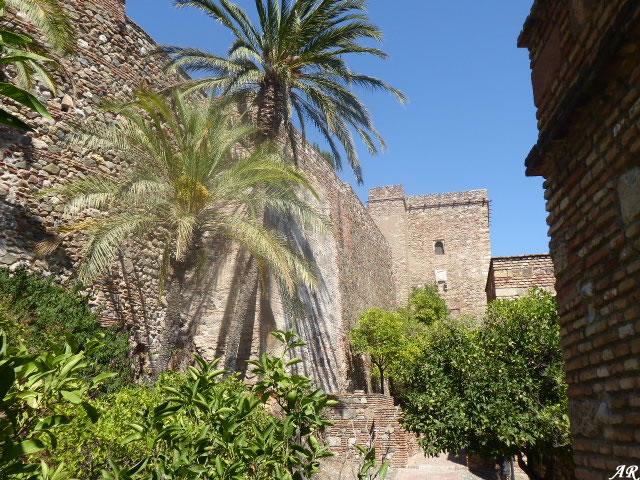 Recinto Intermedio hasta Torre del Homenaje de la Alcazaba de Málaga