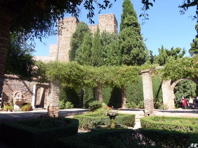 Patio de Armas de la Alcazaba de Málaga
