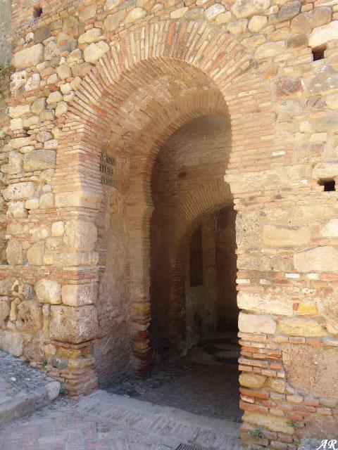 Arco del Cristo de la Alcazaba de Málaga