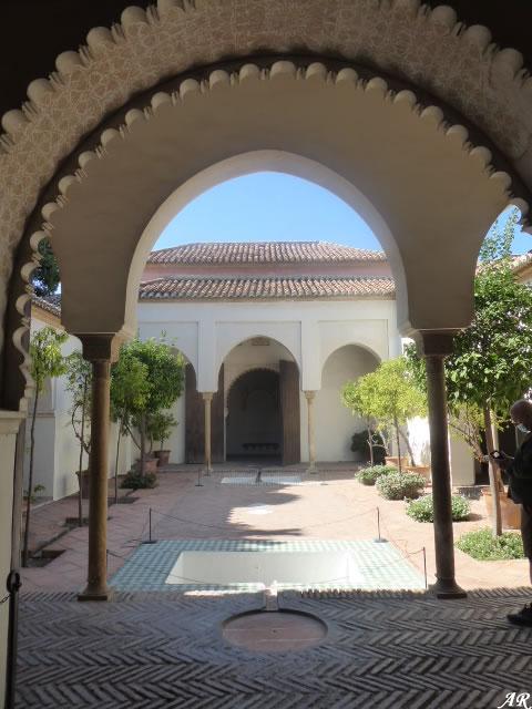 Patio de los Naranjos de la Alcazaba de Málaga