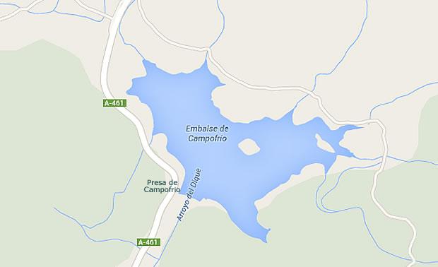 Presa de Campofrio - Embalse de Campofrio - Pantano de Campofrio
