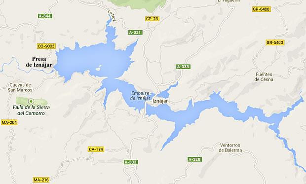 Iznajar Dam Map