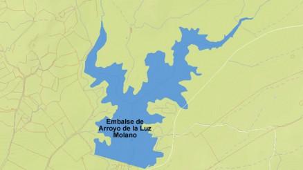 Presa del Embalse de Arroyo de la Luz Molano