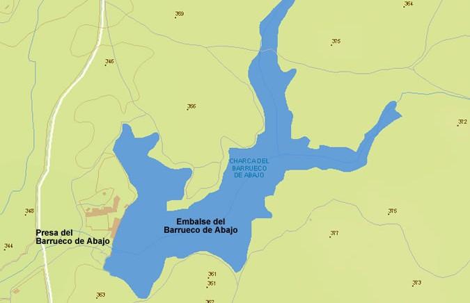 Presa del Embalse del Barrueco de Abajo - Dam and Reservoir