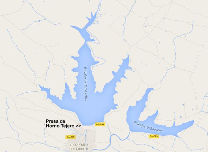 Horno Tejero Dam and Reservoir - Cordobilla de Lácara