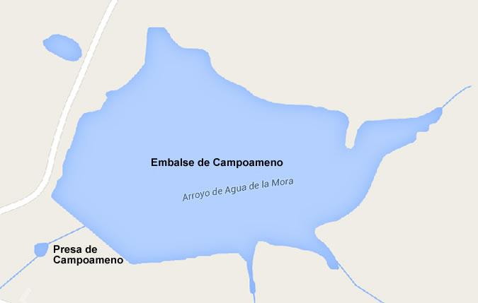 Embalse de Campoameno - Pantano de Campoameno - Presa de Campoameno - Oliva de Mérida