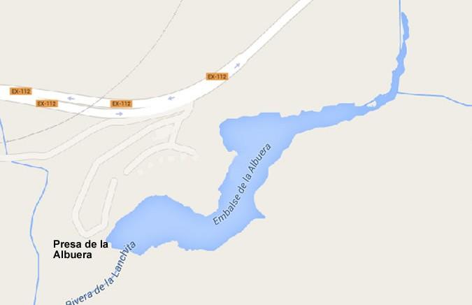Embalse de la Albuera - Presa de la Albuera - Pantano de la Albuera - Cuenca del Guadiana - Burguillos del Cerro - Badajoz - Extremadura - Rivera de la Lanchita